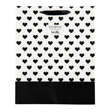(Hearts) Black-White Collection Gift Bag (Medium