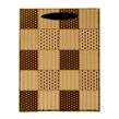 (Mocha) Checker Quilt Gift Bag (Medium)