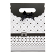 (Black-White) Buckle Bow Gift Bag