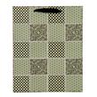 (Sage) Checker Quilt Gift Bag (Medium)