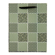 (Sage) Checker Quilt Gift Bag (Small)
