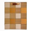 (Caramel) Checker Quilt Gift Bag (Medium)