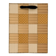 (Caramel) Checker Quilt Gift Bag (Small)
