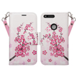 (Cherry Blossom) Design Wallet Stand Case for Goo