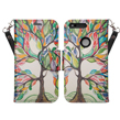 (Colorful Tree) Design Wallet Stand Cas