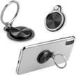 Universal Phone Black Metallic Ring Sta