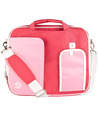 (Pink/White) Pindar VanGoddy Messenger Bag (Larg
