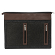 (Brown) Exo Woolen Felt Laptop Sleeve (10-12)
