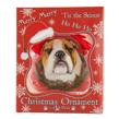(Bulldog) Dog Collection Christmas Ball Ornament