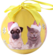 (Cat and Pug) Animal Collection Christmas Ball O