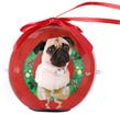 (Pug) Dog Collection Twinkling Lights Christmas