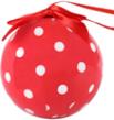 (Red) Polka Dot Collection Christmas Ball Orname