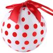 (White) Polka Dot Collection Christmas Ball Orna