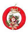 (Circle) Santa Clause Hanging Christmas Ornament