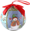 (Snowflake) Snowman Collection Christmas Ball Or
