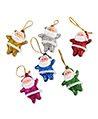 (6 Piece Set) Mini Santa Clause Hanging Ornament