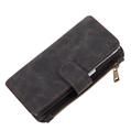 (Black) Luxury Flip Wallet Case for Galaxy S7 Ed