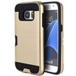 (Gold) Hybrid Card Case for Samsung Galaxy S7