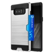 (Silver) Card Holder Hybrid Protector Case for