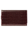(Burgundy) Crocodile Design Wristlet Wallet 6
