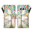 (Colorful Tree) Wallet Stand Case for S
