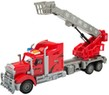 (Red) Remote Control Big Rig with Crane and Bask