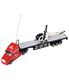 (Red) Remote Control Big Rig with Helicopter
