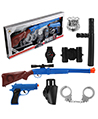 Police Accessory Role Play Set Cop Toy Set - Gun