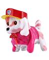 (Pink Spots with Purple Hat) Walking an