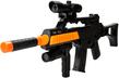 (Black/Orange) Combat Tactical Rifle Play Set