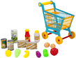(Blue) Shopping Cart and Pretend Play Food Set