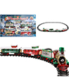 Classic Holiday Christmas Train Set with Locomot