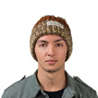 (Brown) Aerusi Echo Pompom Knit Beanie