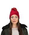 Aerusi Crocheted Beanie (Scarlet)