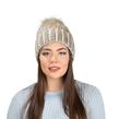 Aerusi Melinda Knitted Beanie (Brown)