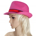 Aerusi Magenta Strone Straw Hat