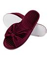 Aerusi Royal Cozy Slide Slipper Wine Red, Size 6