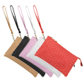 Cooper Woven Leather Crossbody Clutches
