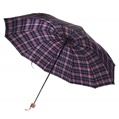 Blue and Red Plaid Umbrella