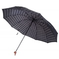 Blue and Pink Plaid Umbrella
