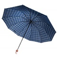 Blue and Yellow Plaid Umbrella