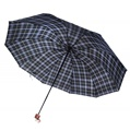 Aqua and Purple Plaid Umbrella