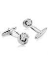 Sliver Knotted Cuff links