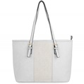 (White) Gwen Studded Tote Bag