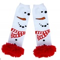 Kids Winter Leg Warmers Red Scarf