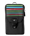 Black Stripe Nylon Travel Pouch