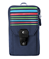 (Blue) Stripe Nylon Travel Pouch