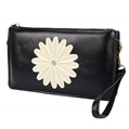Flower Accent Crossbody Carrying Bag