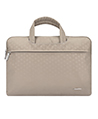 (Tan) Laptop Briefcase with Hideaway Handles