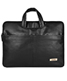 (Black) Laptop Carrying Case with Hideaway Handl